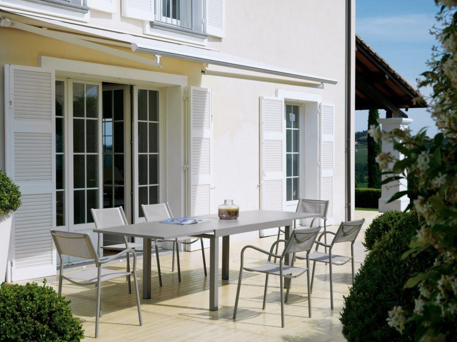 Set pranzo sedia Alice textilene - tavolo allungabile Sofy di Vermobil