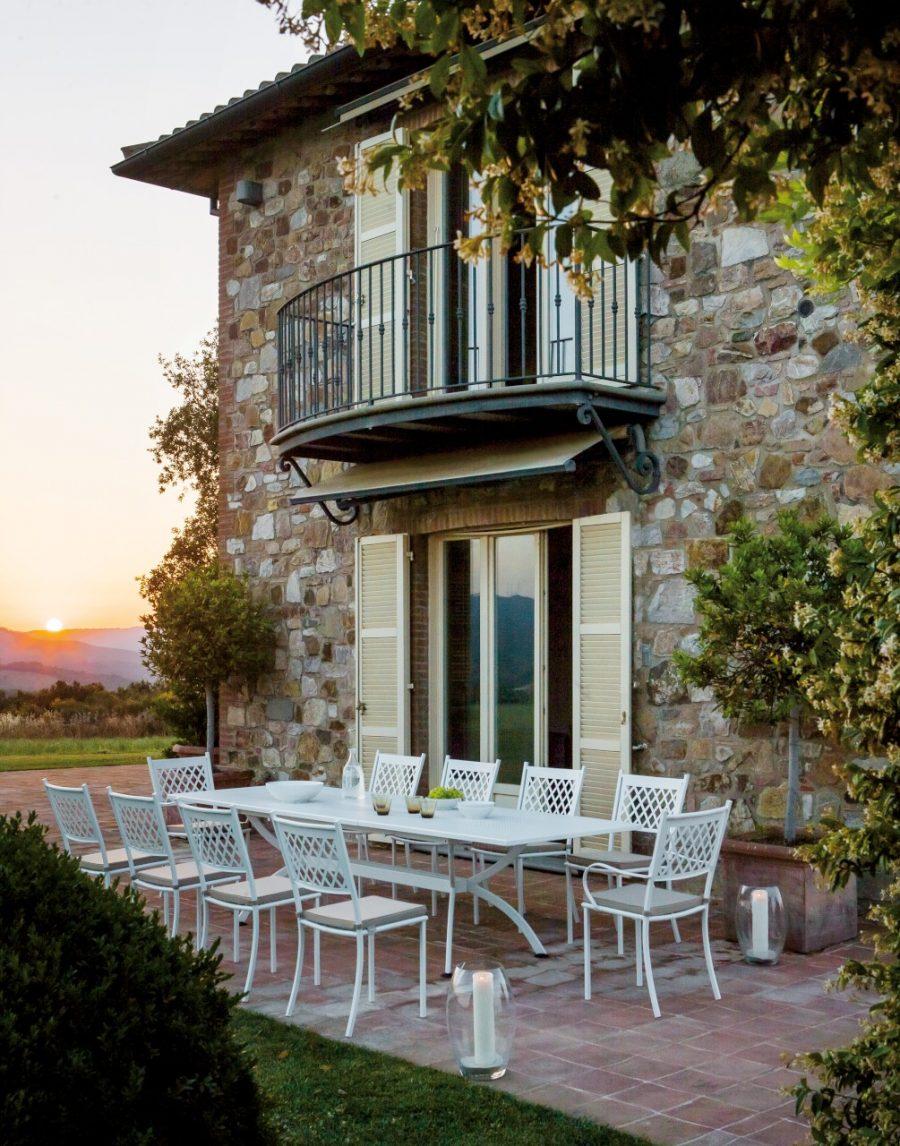 Set pranzo sedia Summertime - tavolo allungabile Valentino di Vermobil