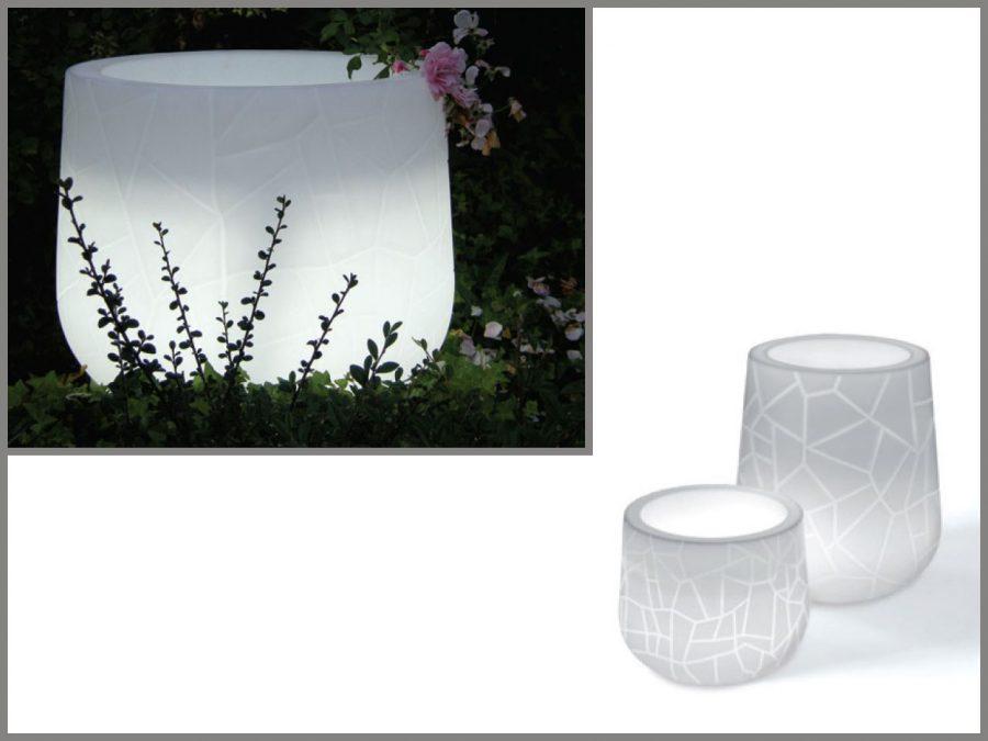 Vaso Memory Pot con luce di Serralunga